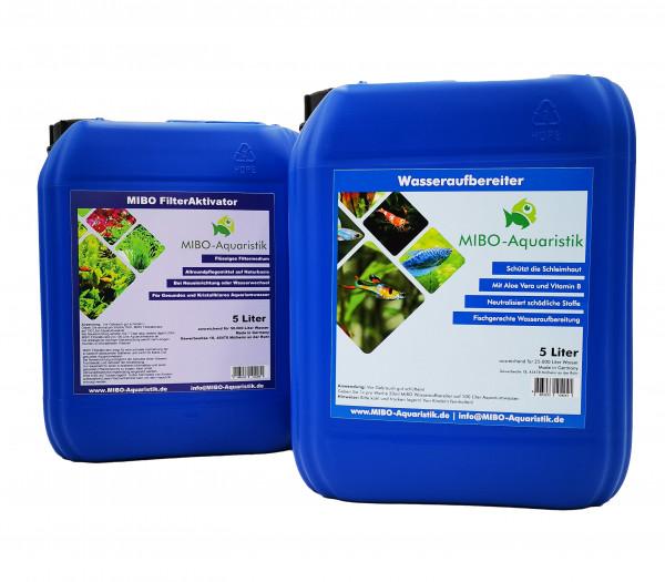 MIBO Wasseraufbereiter und Filteraktivator Set 5 Liter