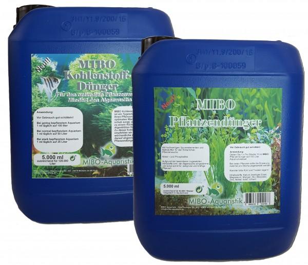 MIBO Pflanzendünger und Kohlenstoff 5 Liter