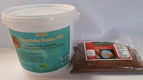 MIBO Futter Set Hauptfutter Flocke 5000ml + Granulat Mix 1000ml Aquarium