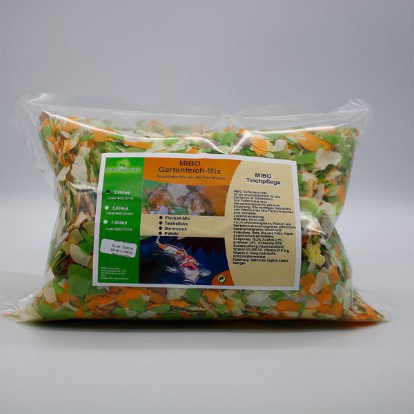 MIBO Gartenteich Mix Teichfutter Flocke Sticks Gammarus Pellets